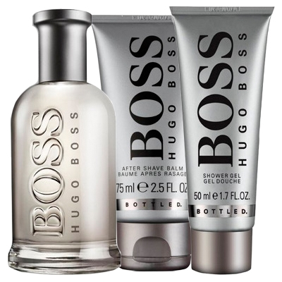 Set Boss Bottled 100ml + Shower Gel 50ml + After Shave Balm 75ml