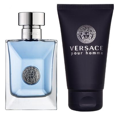 3c4b435555bd Set Versace Pour Homme Edt 100ml + Hair   Body Shampoo 100ml ...