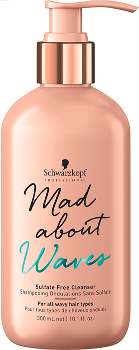 Mad About Waves Sulfate Free Cleanser (Cabellos Con Ondas) Sin Sulfatos