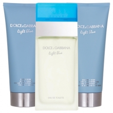 Set D&G Light Blue 100ml + Body Lotion 100ml + Shower Gel 100ml