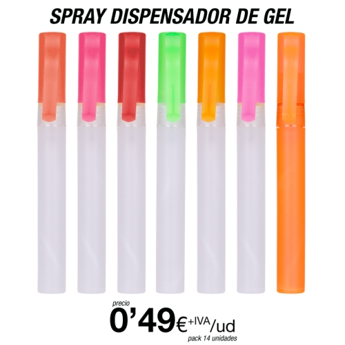 Spray dispensador de Gel hidroalcóholico
